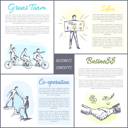 Business Concept Collection Vector Illustration Stock Photo
