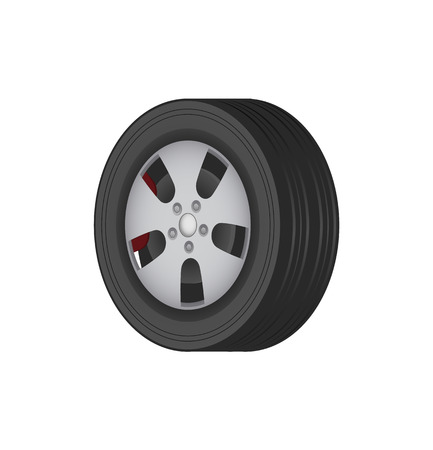 Car Tire of Solid Best Quality Rubber for Winter Stock Illustratie