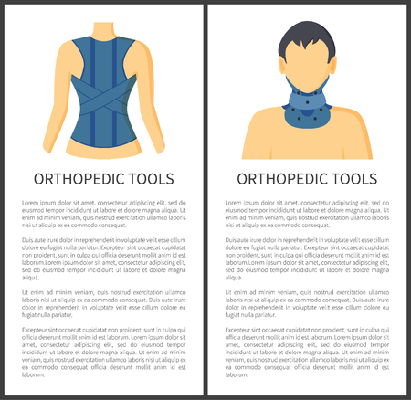 Orthopedic Tools for Patients Vector Illustration