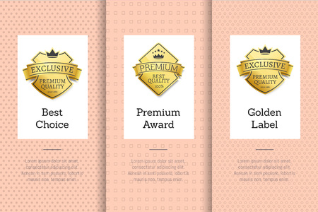 Exclusive and Premium Quality Golden Labels Set