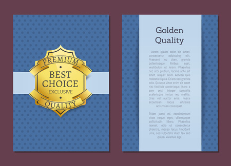 Best Choice Exclusive Quality Product Gold Label Stock Vector - 106315726