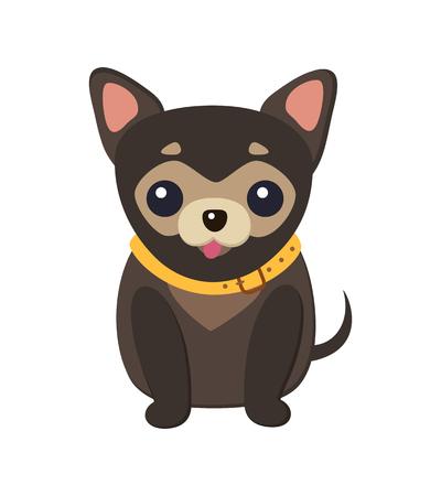 Chihuahua Hund Bild Poster Vektor-Illustration Vektorgrafik