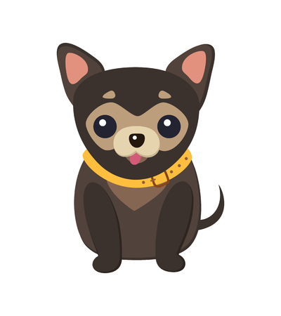 Illustration vectorielle de Chihuahua Dog Picture Poster Vecteurs