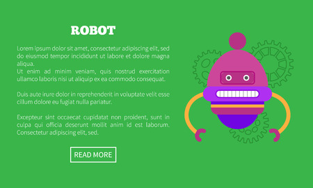 Rounded Robot with Two Limbs and Face Promo Poster