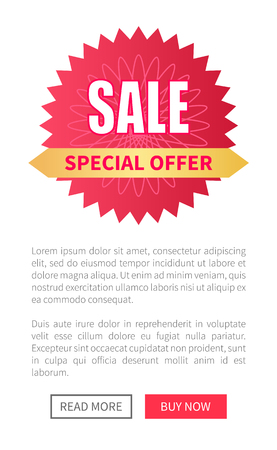 Sale Special Offer Round Label with Watermark, Web Stock fotó - 105658343