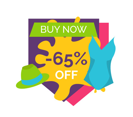 65 Off Buy Right Now Bright Promotional Emblem