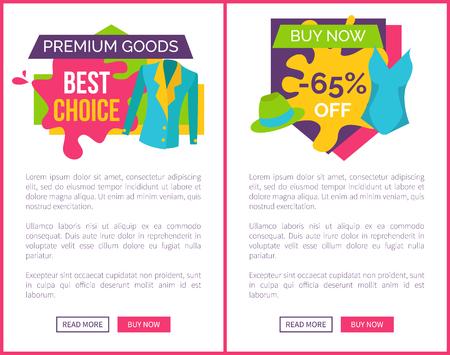 Premium Goods Best Choice Promo Emblem with Jacket