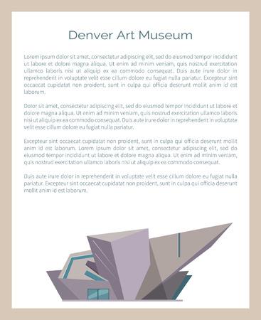 Denver Art Museum, DAM Located in Colorado, Vector