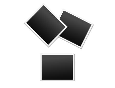 Empty Photo Frames Vector Icons Set