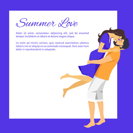 Summer Love Affair Banner with Place for Text