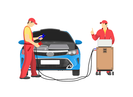 Car Repair Service Abstract Vector Illustration