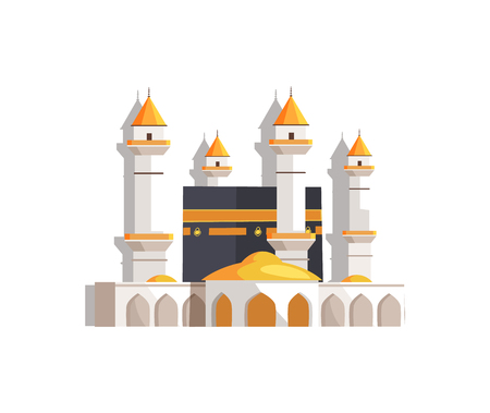 Gorgeous Arabian Mosque Surrounded with Towers