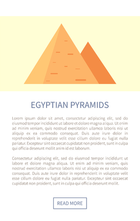 Egyptian Pyramids Web Page Vector Illustration