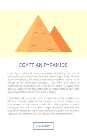 Egyptian Pyramids Web Page Vector Illustration