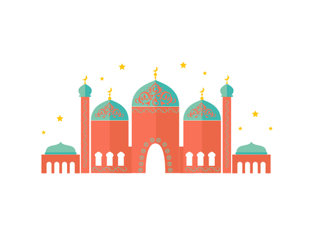 Colorful Pattern of Beautiful Temple, Vector Card