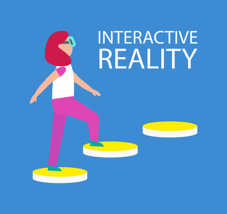 Interactive Reality Connection Vector Illustration
