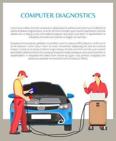 Computer Diagnostics Poster Vector Illustration