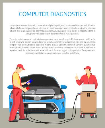 Computer Diagnostics Poster Vector Illustration