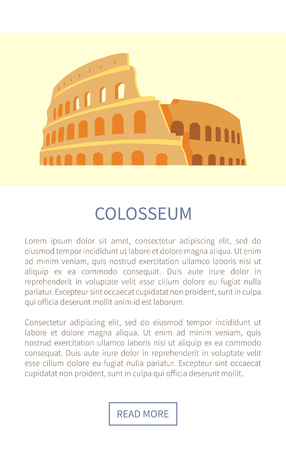 Colosseum Web Page Landmark Vector Illustration  イラスト・ベクター素材