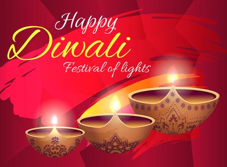 Happy Diwali Festival of Lights Bright Poster