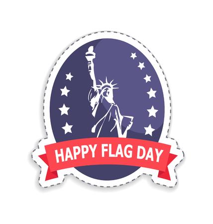 Happy Flag Day Sticker Title Illustration Illusztráció