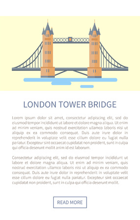 London Tower Bridge Web Page Illustration