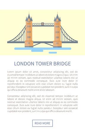 London Tower Bridge Web Page Illustration
