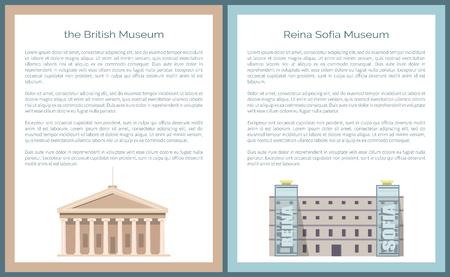 Museo Reina Reina Sofía ubicado en Madrid, Vector Ilustración de vector