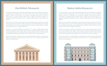 Reina Queen Sofia Museum Located in Madrid, Vector