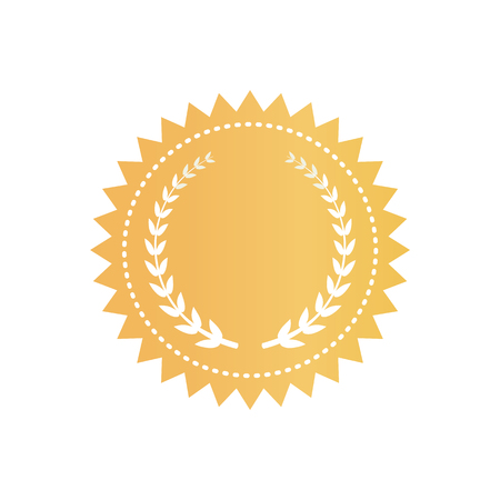Round Gold Certificate with Laurel Wreath