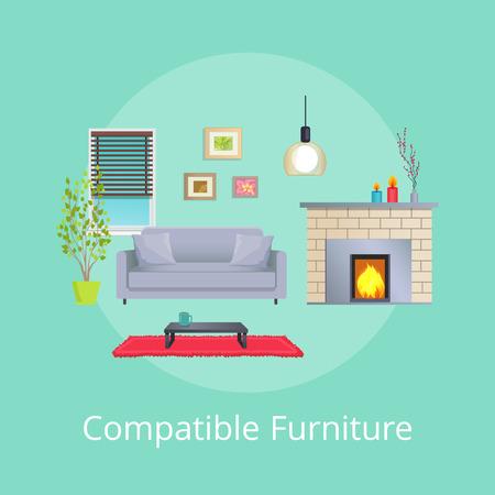 Compatible Furniture in Modern Design Living Room