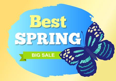 Best Spring Sale Label Butterfly Chocolate Tiger Ilustracja