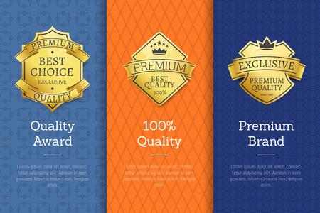 Premium Brand Gold Labels that Approve Quality