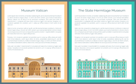 State Hermitage and Vatican Museums Vector Set
