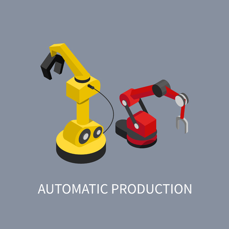 Automatic Production Abstract Factory Illustration