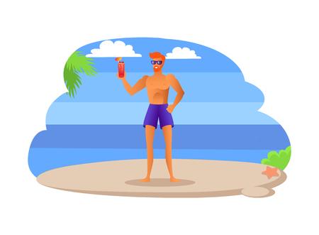 Tropical Beach Ahletic Sexy Sportsman Summer Cloth