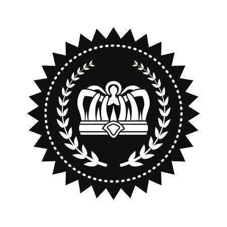 Kings Crown between Laurel Branches on Royal Seal
