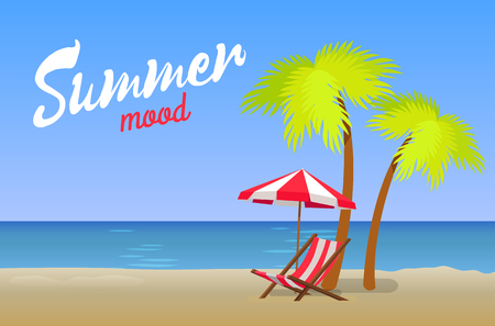 Summer Mood, Beautiful Sandy Beach at Summertime