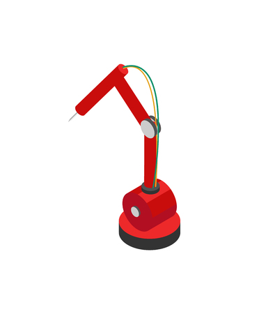 Industrial Robot Icon with Hydraulic Mechanism Standard-Bild - 107225664