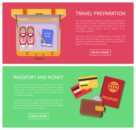 Travel Preparation Internet Vector Illustration