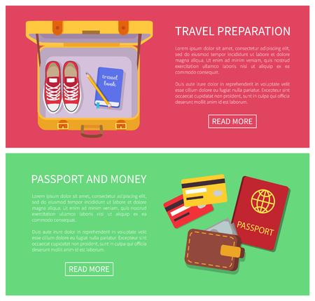 Travel Preparation Internet Vector Illustration