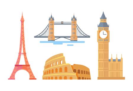 Attractions architecturales célèbres du monde spectaculaire
