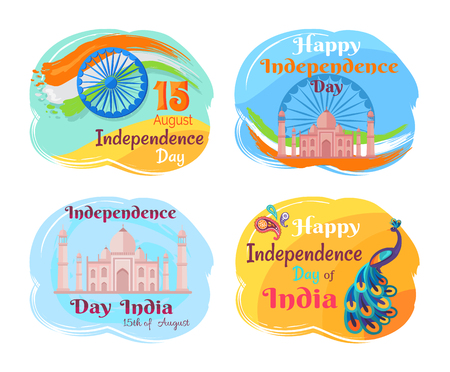 Independence Day of India Vector Illustration Banco de Imagens - 107225751