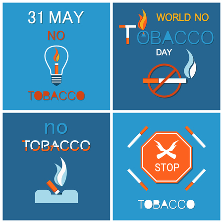Your last cigarette in ash tray vector no tobacco day extinguished cigar in ash tray, world no smoking day on 31 May vector posters stop nicotine concept