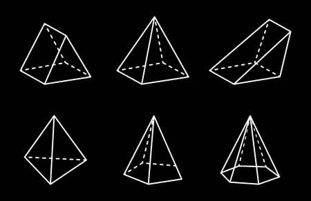 Pyramids and Prisms Collection Vector Illustration 向量圖像