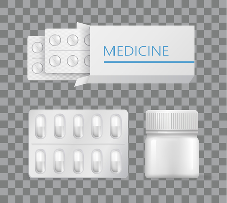 Medicina Envases Medicamentos Analgésico Blister De Plata