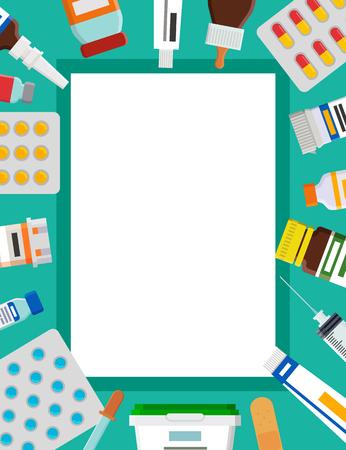 Drops and Medical Elements Set Vector Illustration Stock Illustratie