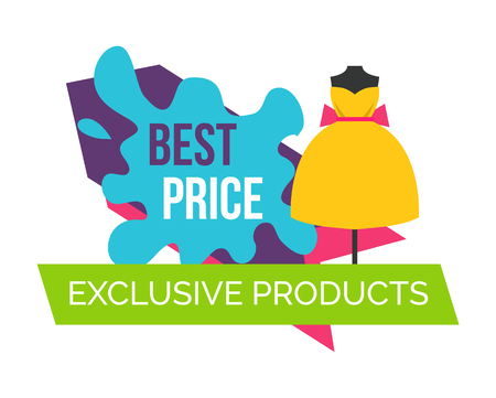 Best Price for Exclusive Products Logo with Dress Illustration