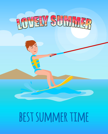 Lovely Summer Best Summertime Poster Kitesurfing