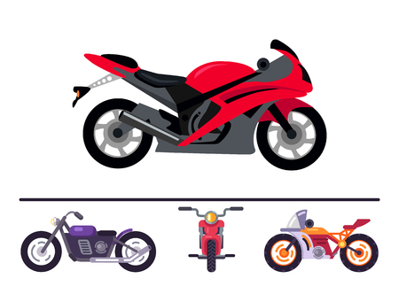 Best Stylish Sport and Classic Motorcycles Set